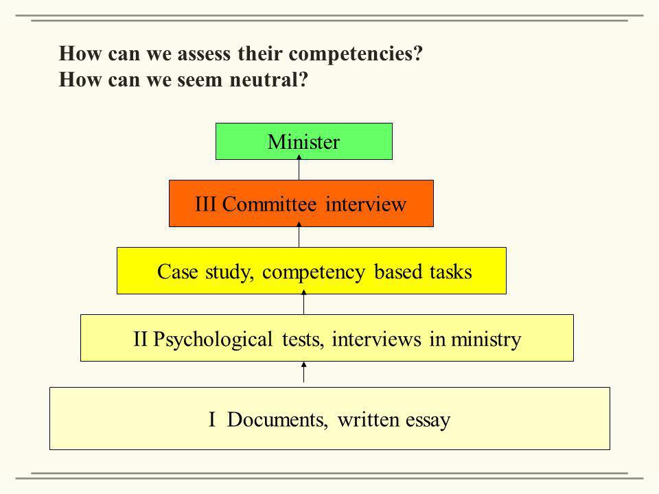 How can we assess their competencies. How can we seem neutral.