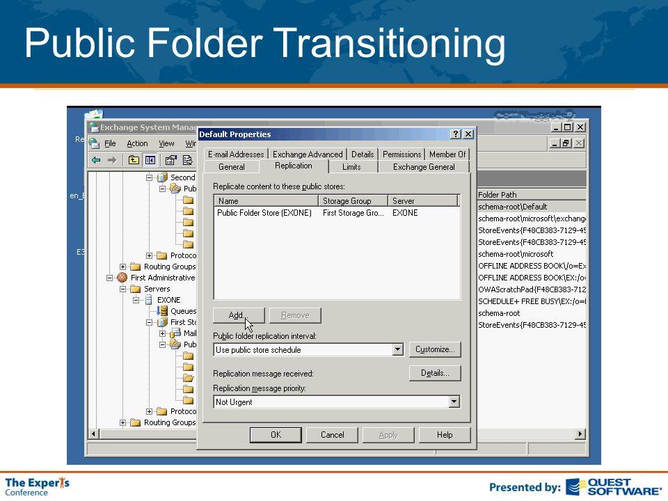 Public Folder Transitioning