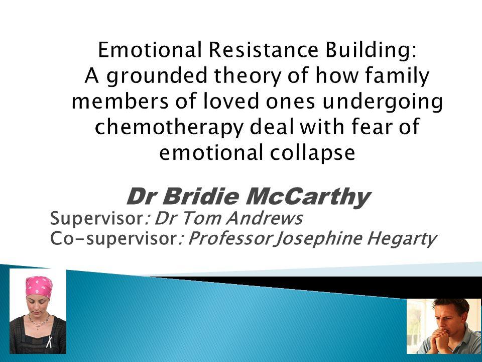 Dr Bridie McCarthy Supervisor: Dr Tom Andrews Co-supervisor: Professor Josephine Hegarty