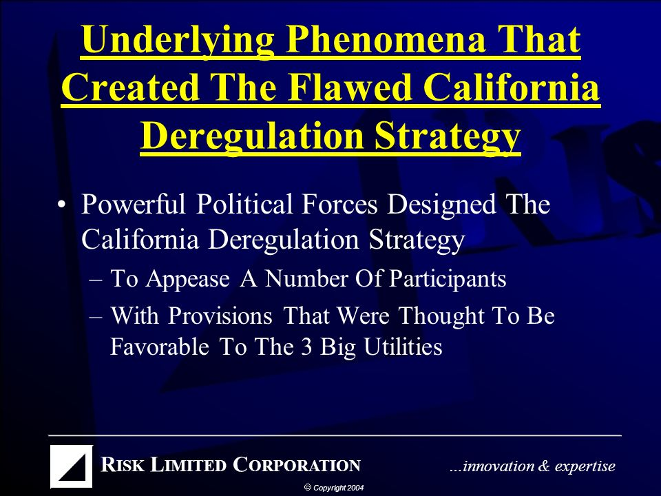 Any Lessons From Californias Deregulation.