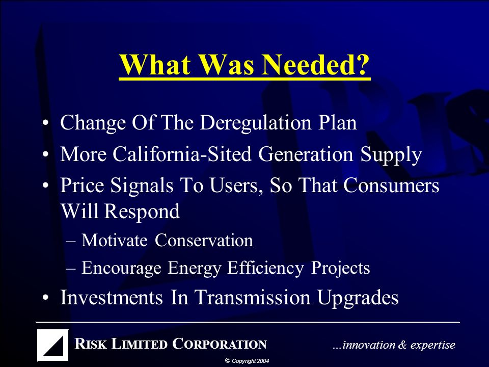 Questionable Trading Practices Enron Collapse and Subsequent Investigations Revealed Market Manipulation –Results Are Increased Market Oversight What