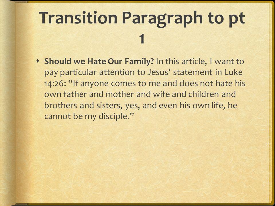 Conclusion Part of the last paragraph