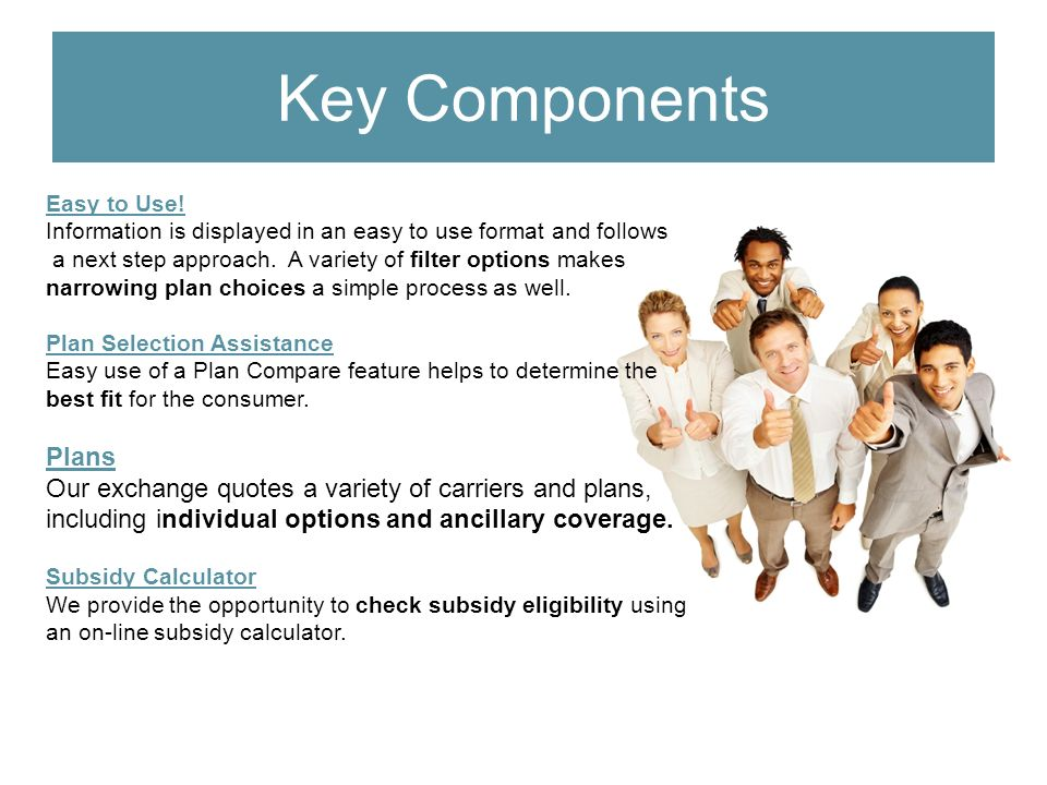 Key Components Easy to Use.