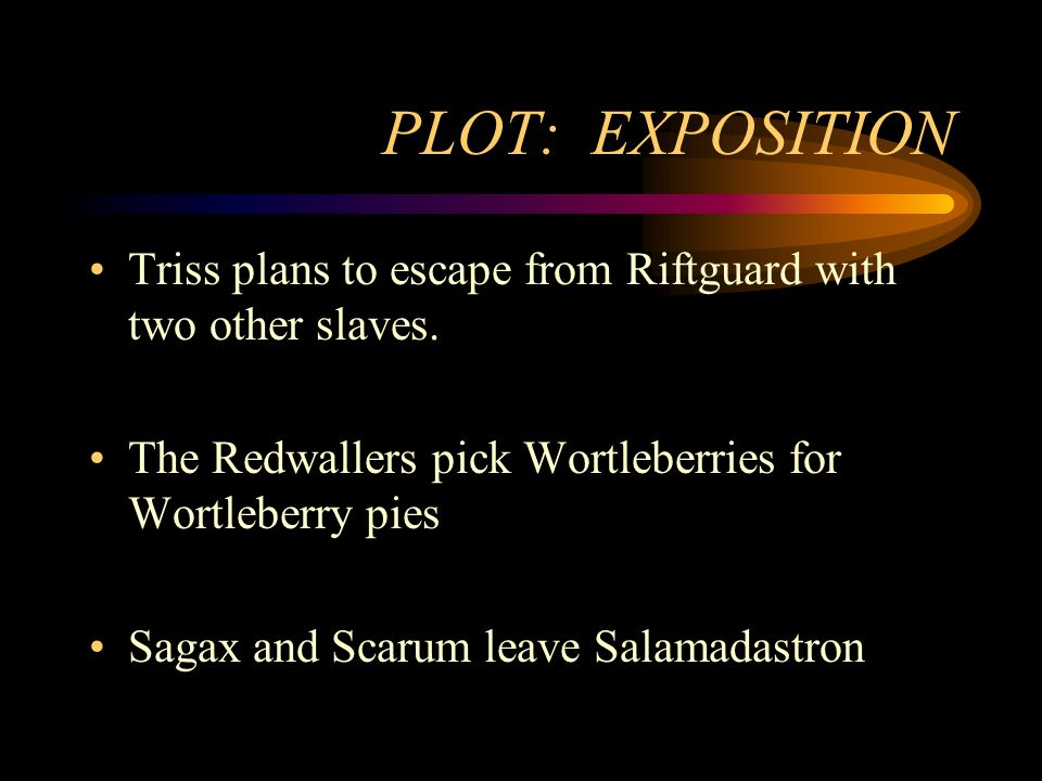 PLOT: EXPOSITION Triss plans to escape from Riftguard with two other slaves.