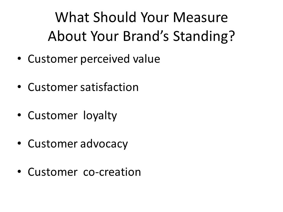 What Should Your Measure About Your Brands Standing.