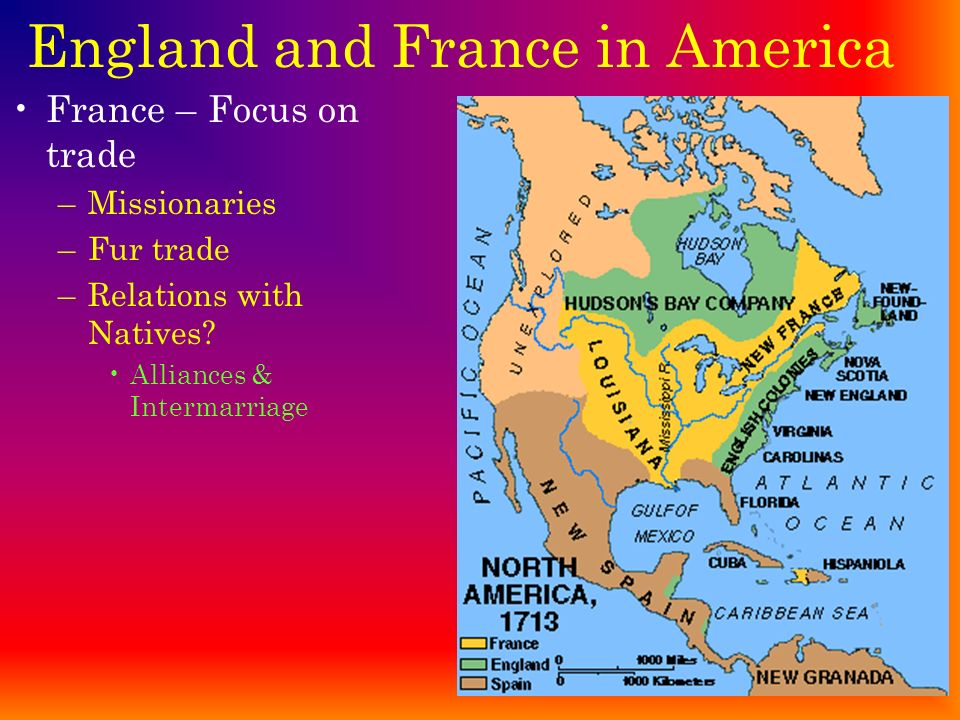 England and France in America England – creating an Empire –1580 – Drake returns with $25 million –Jamestown – 1 st permanent settlement – 1607 Seekin
