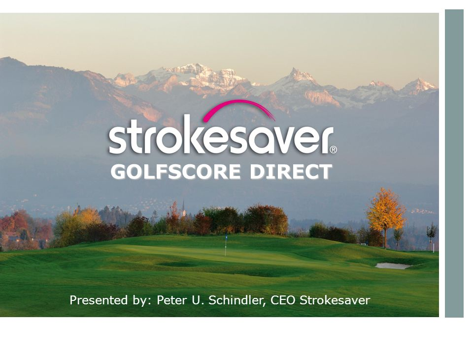 The live scoring solution is based on the traditional scoring method understood by every golfer.