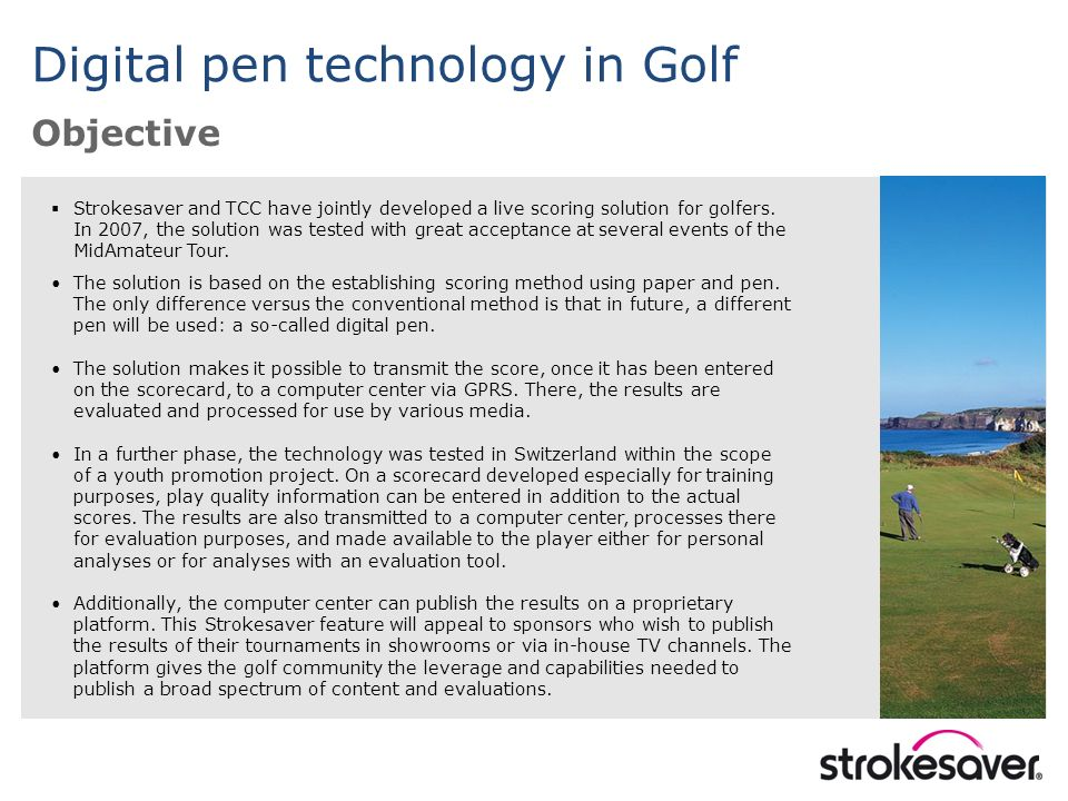 Strokesaver and TCC have jointly developed a live scoring solution for golfers.