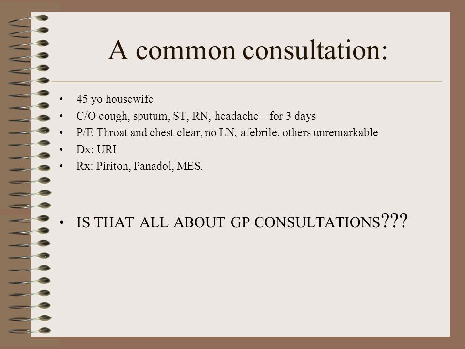 NO!!! But what else should be in a consultation?