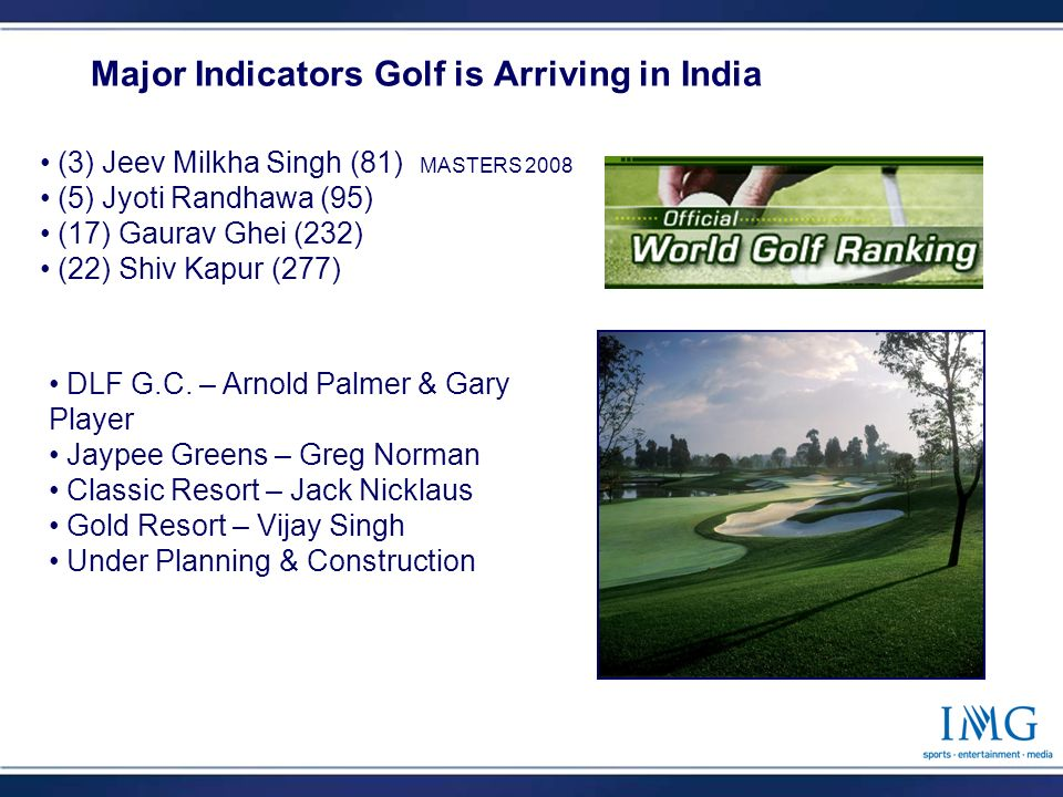 4 Major Indicators Golf is Arriving in India DLF G.C.