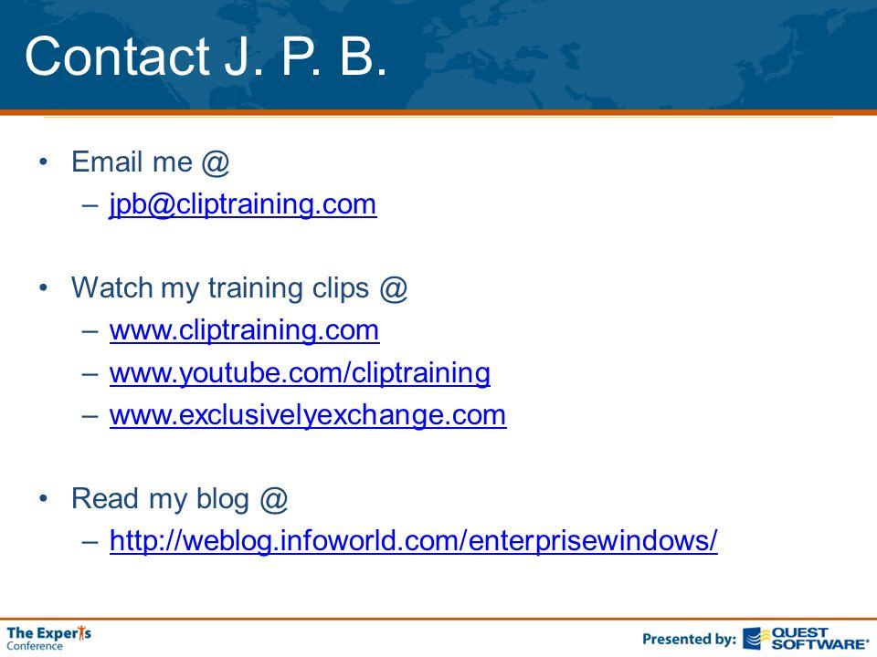 Contact J. P. B.