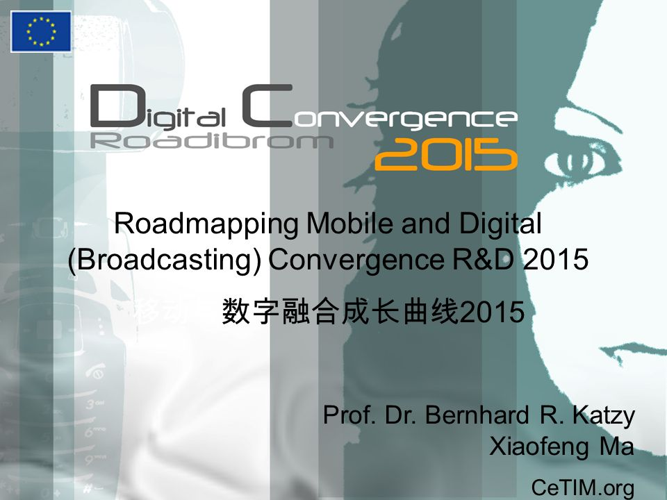 Roadmapping Mobile and Digital (Broadcasting) Convergence R&D 2015 2015 Prof.