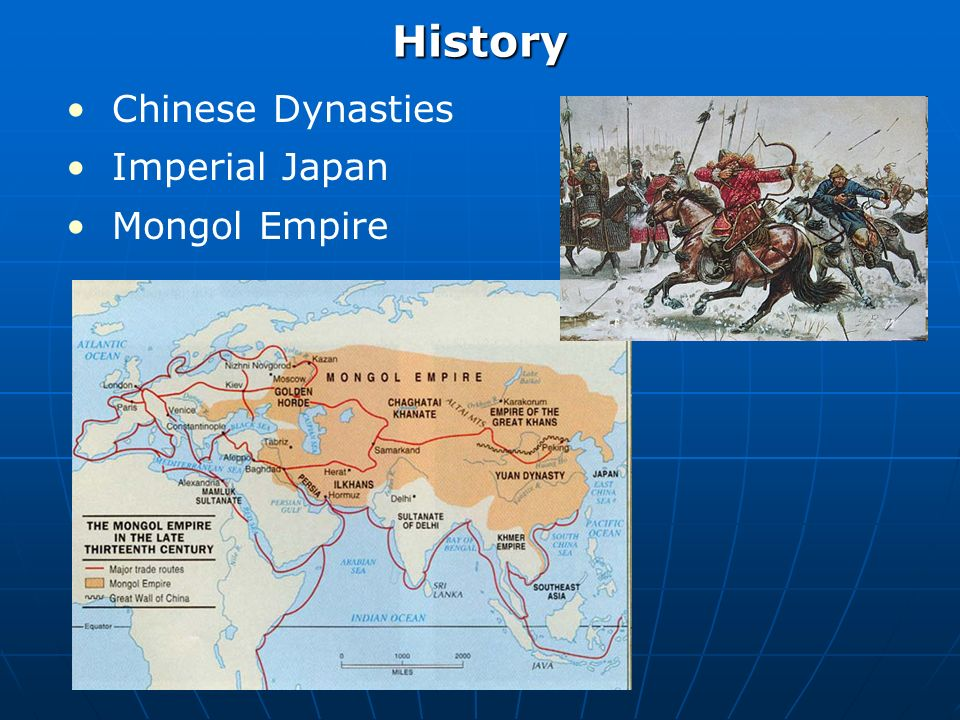 History Inward looking societies Imperial decline 20 th century change Significantly different trajectories Japan: industrialization and expansion China: revolution and communism Korea: North/South division Mongolia: Soviet domination Taiwan: political uncertainty / development