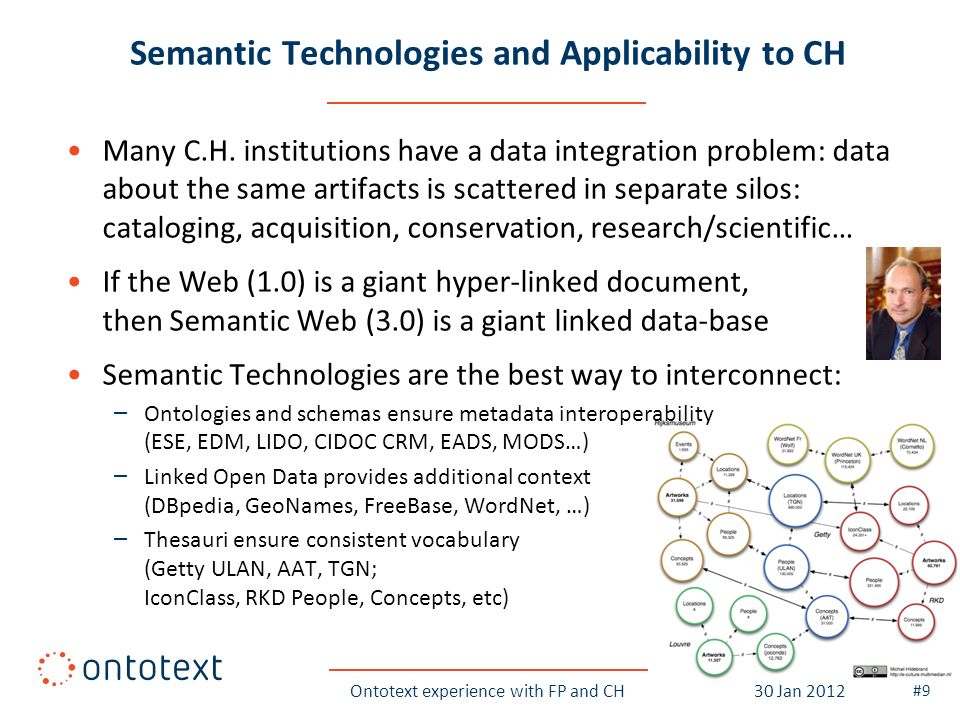 Semantic Technologies and Applicability to CH Many C.H.