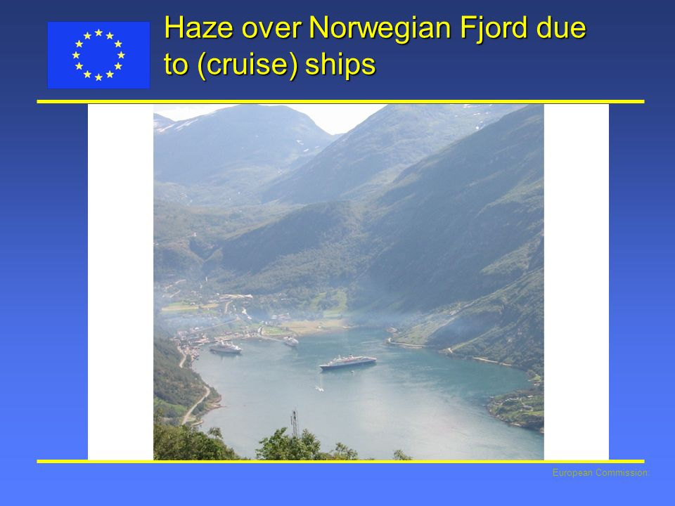European Commission: Haze over Norwegian Fjord due to (cruise) ships