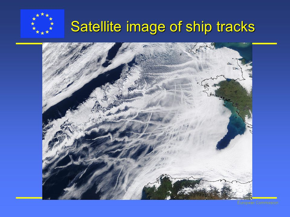 European Commission: Satellite image of ship tracks