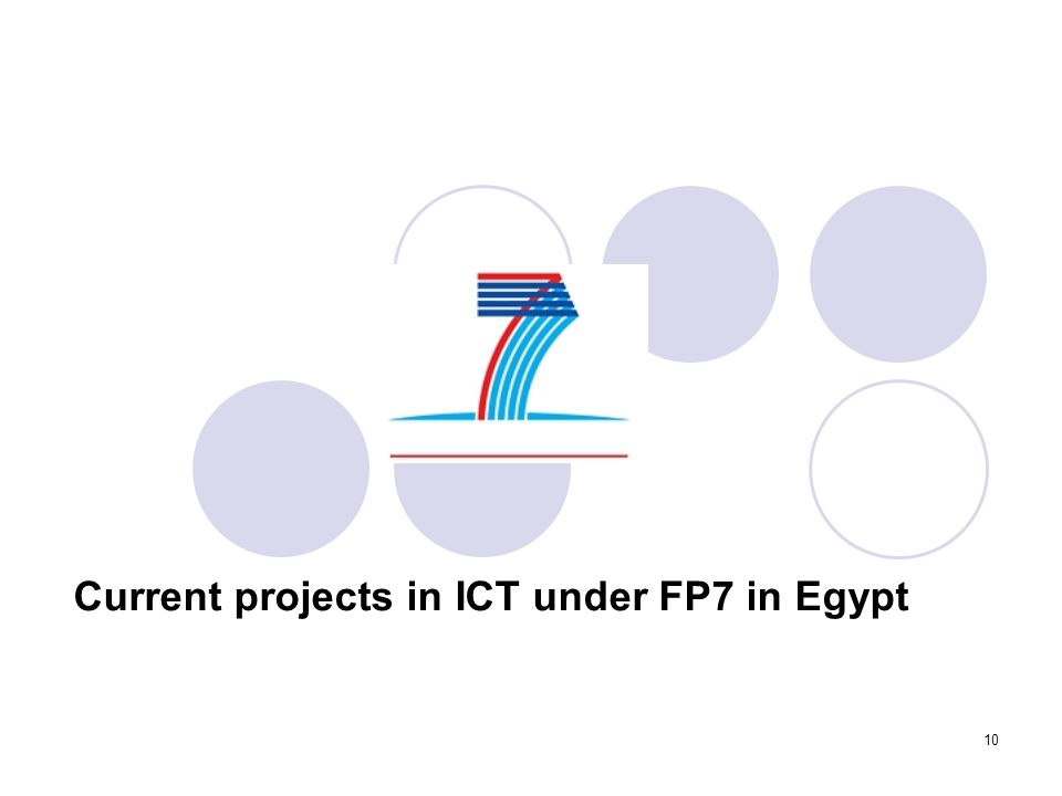 10 Current projects in ICT under FP7 in Egypt