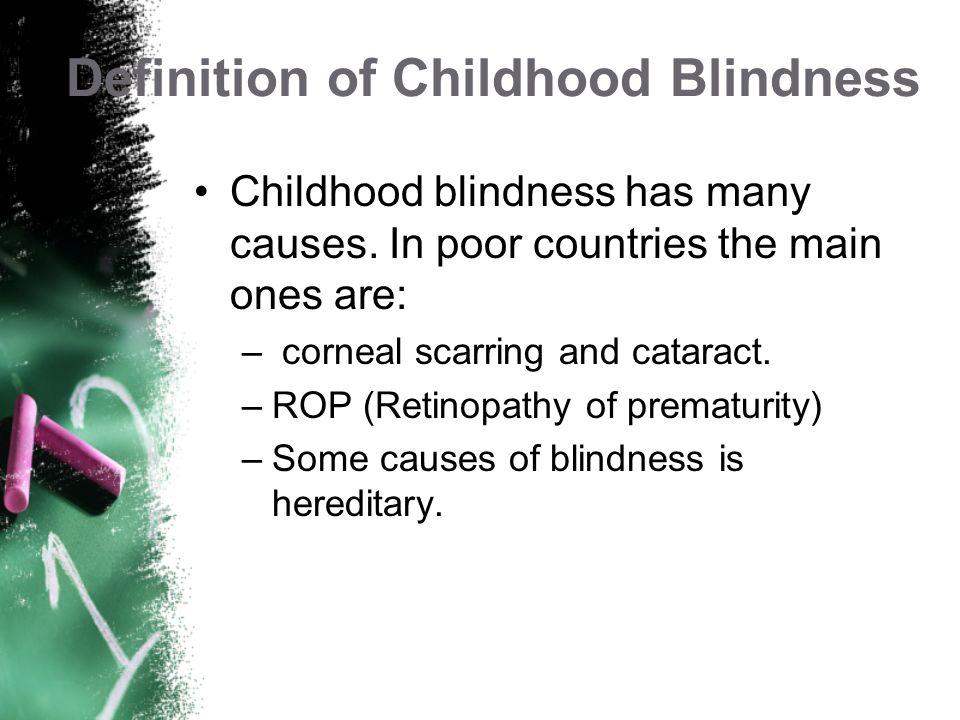 Childhood Blindness Definition Prevalence Treatment Risk Factors