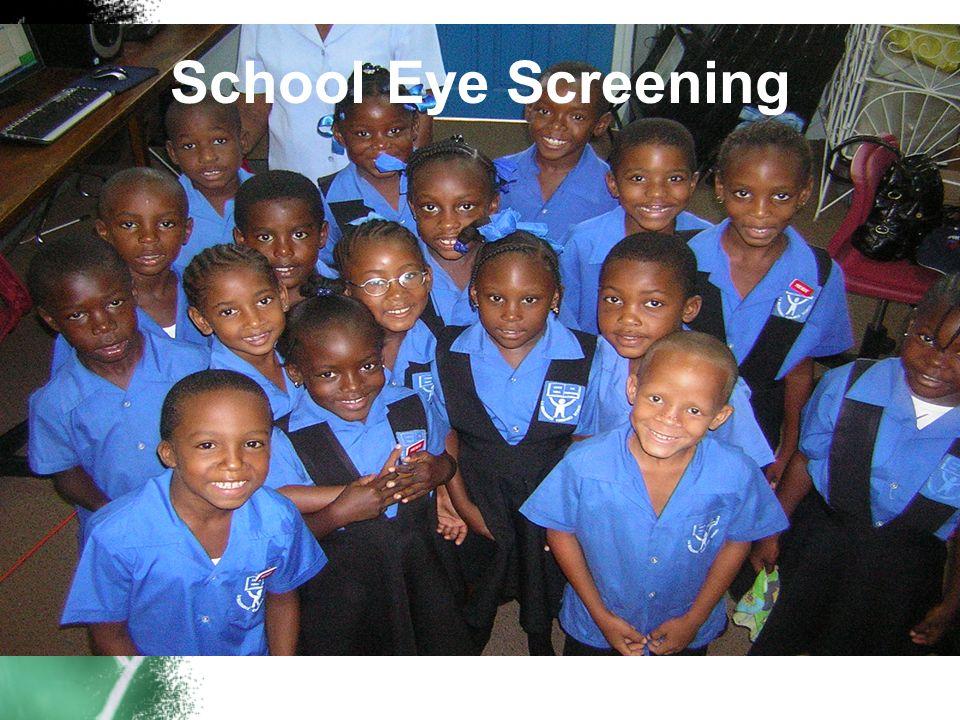 School Eye Screening WHO? Kindergarten Grade 6