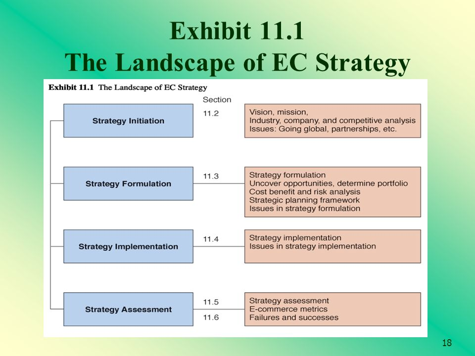 18 Exhibit 11.1 The Landscape of EC Strategy