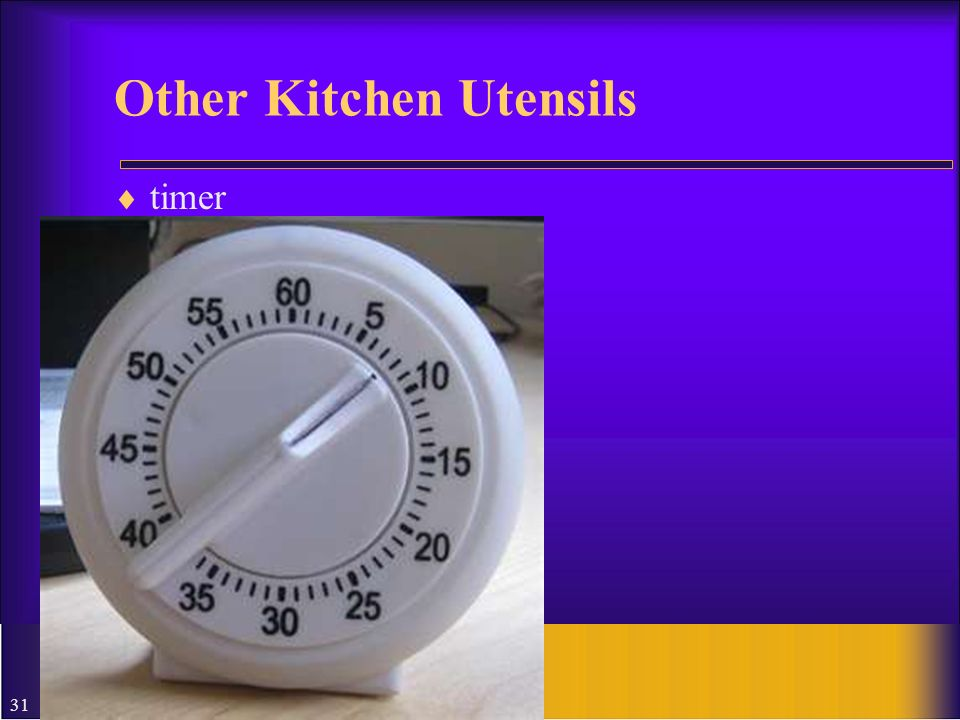 31 Other Kitchen Utensils timer