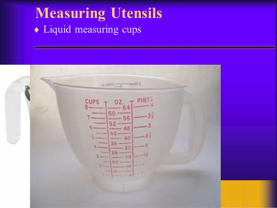 7 Measuring Utensils Liquid measuring cups