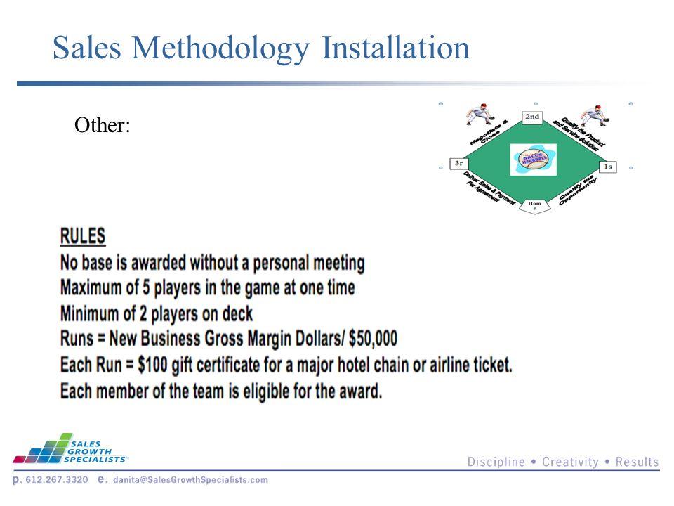 Sales Methodology Installation Other: