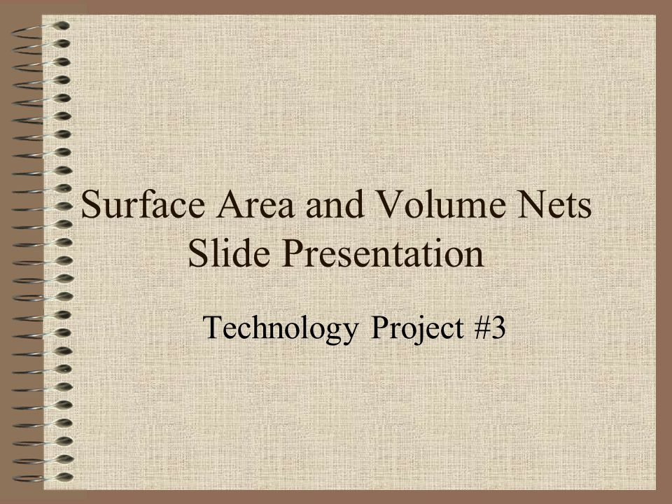 Surface Area and Volume Nets Slide Presentation Technology Project #3