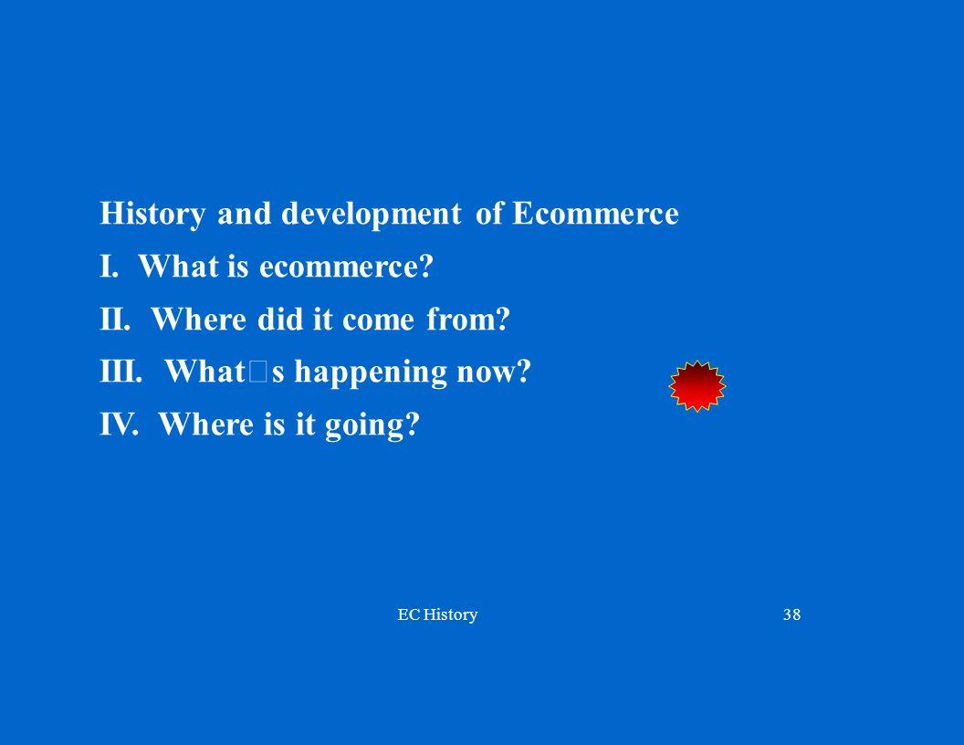 EC History38 History and development of Ecommerce I.