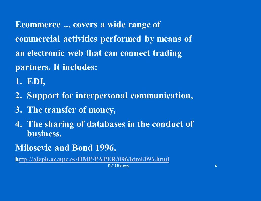 EC History4 Ecommerce...