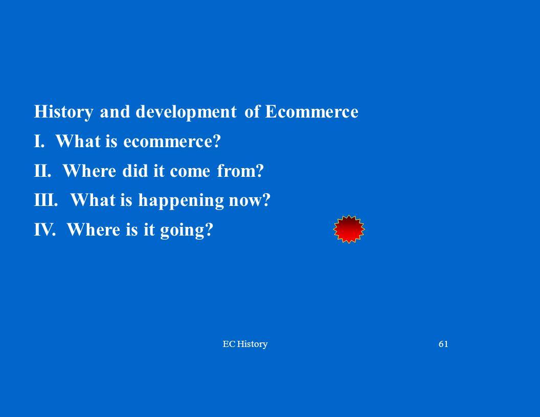 EC History61 History and development of Ecommerce I.