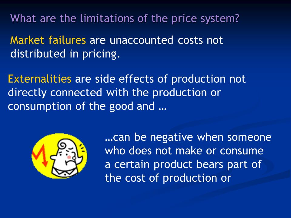 What are the limitations of the price system.