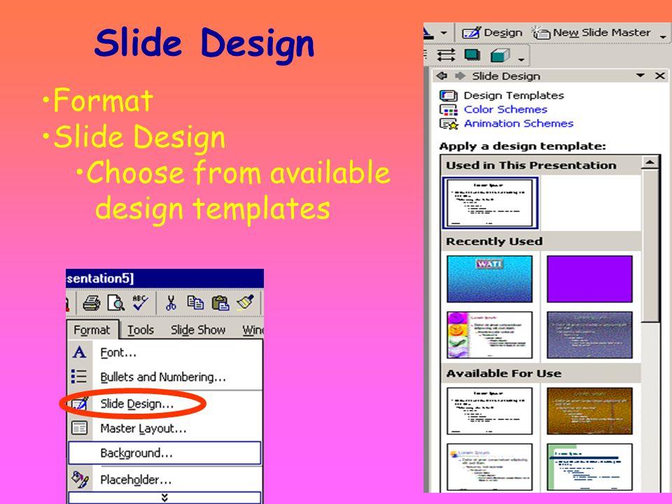 Create a Slide Master View Master Slide Master
