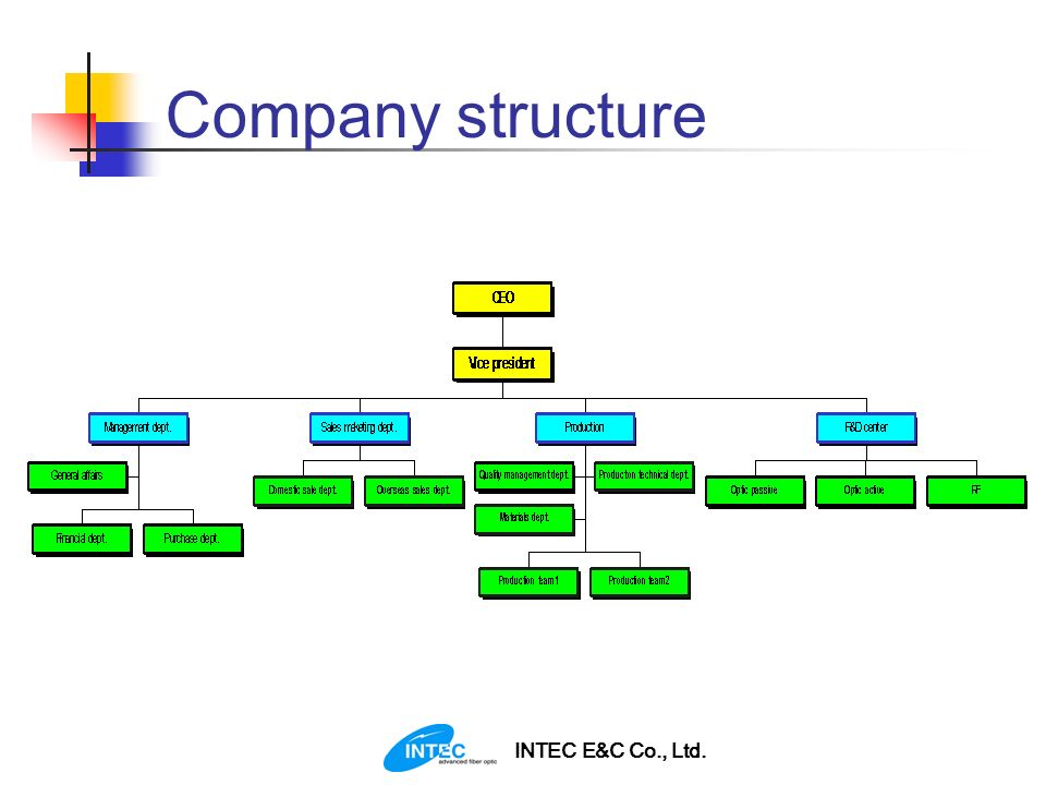 INTEC E&C Co., Ltd. Company structure