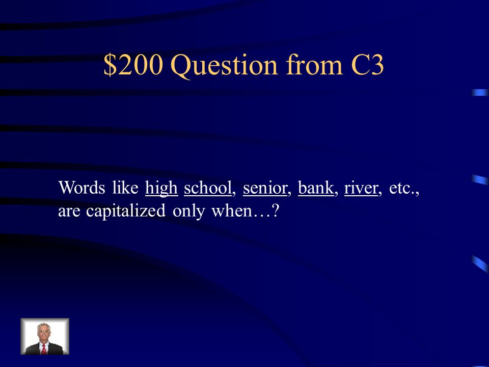 $100 Answer from C3 Definitely