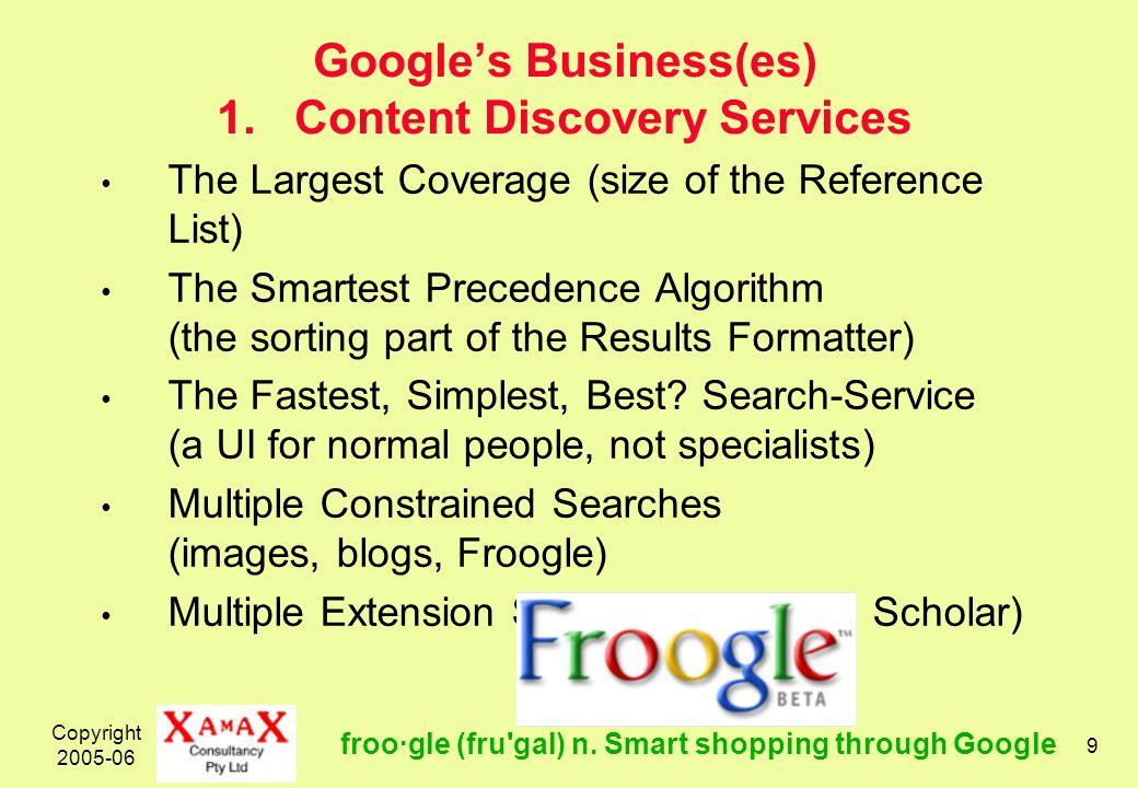 Copyright 2005-06 10 Googles Business(es) 2.