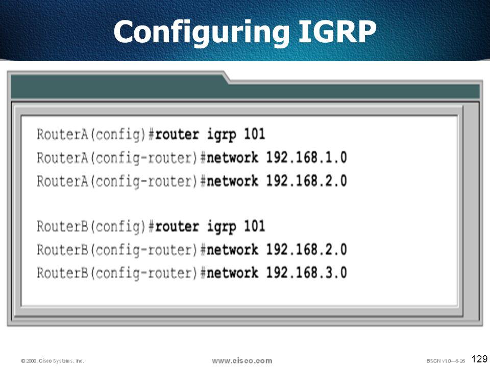 129 Configuring IGRP