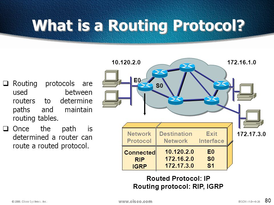 80 What is a Routing Protocol.