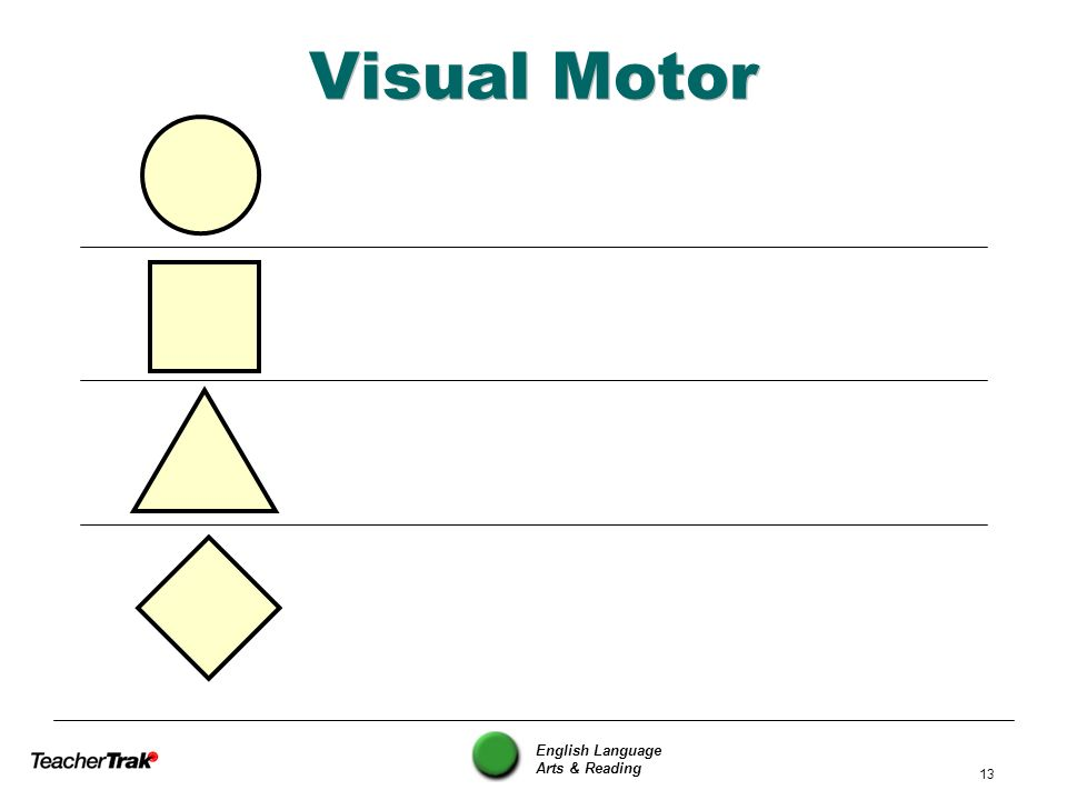 English Language Arts & Reading 13 Visual Motor