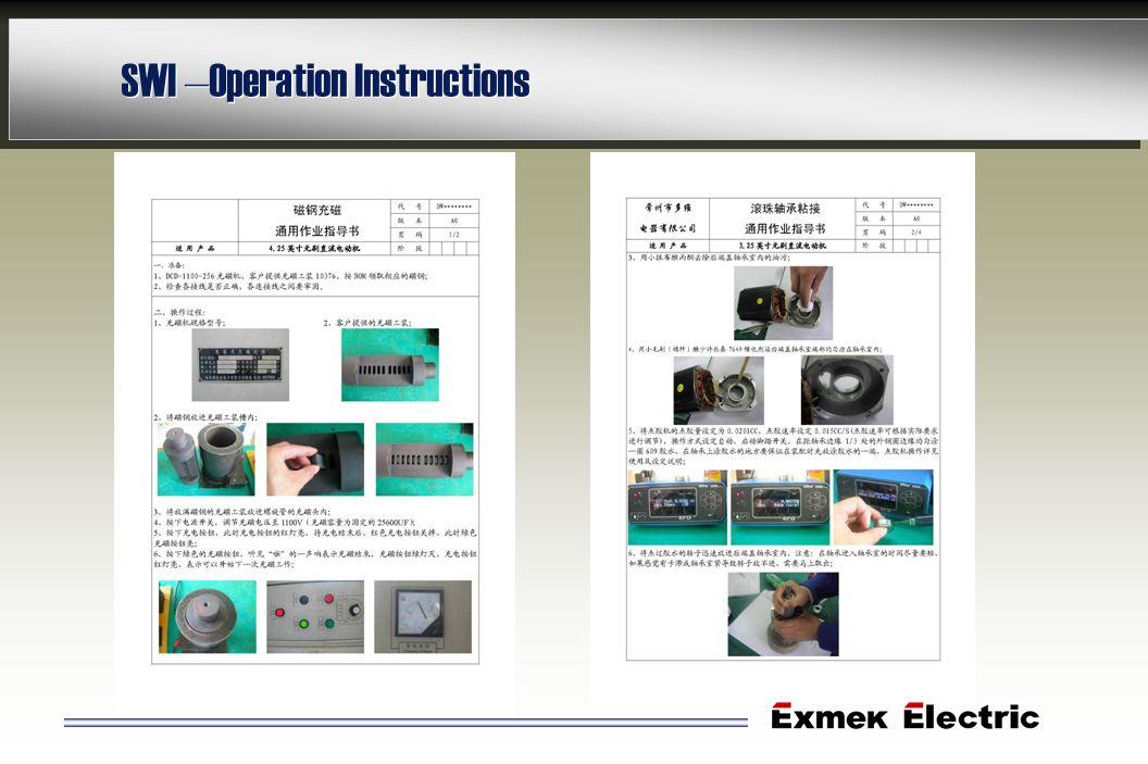 SWI – Operation Instructions
