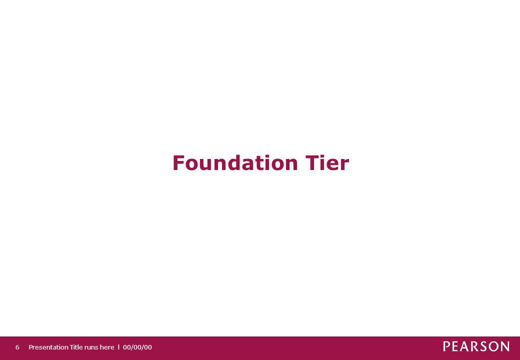 Presentation Title runs here l 00/00/006 Foundation Tier