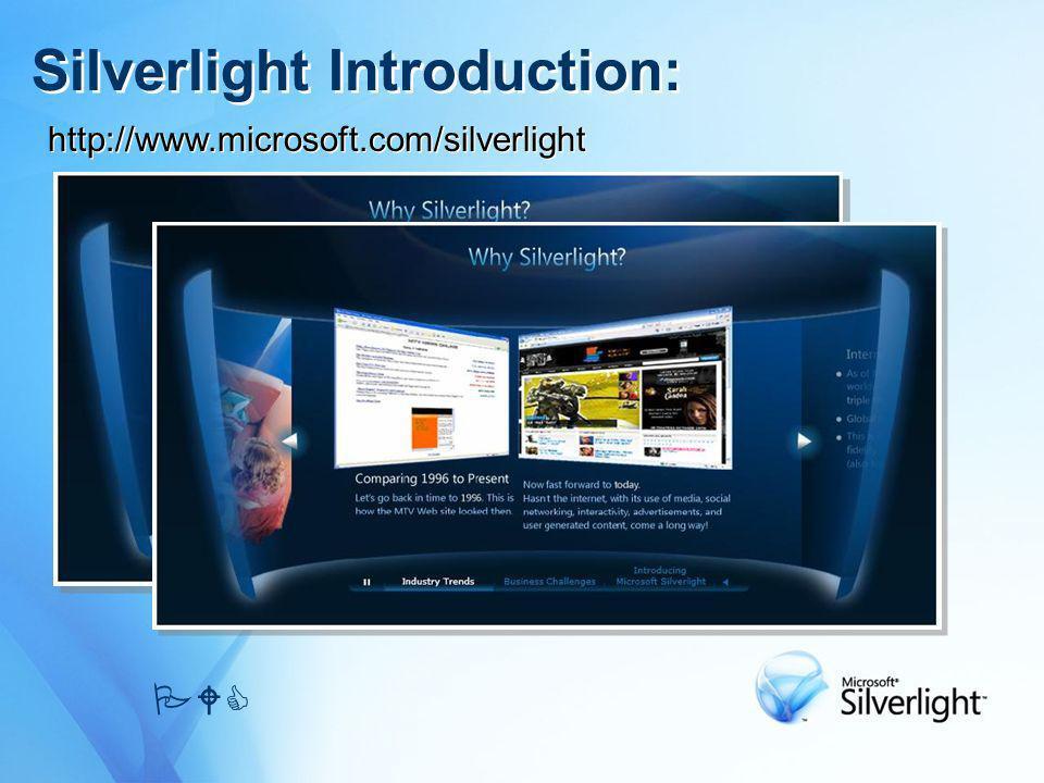Silverlight Introduction: PWC http://www.microsoft.com/silverlight