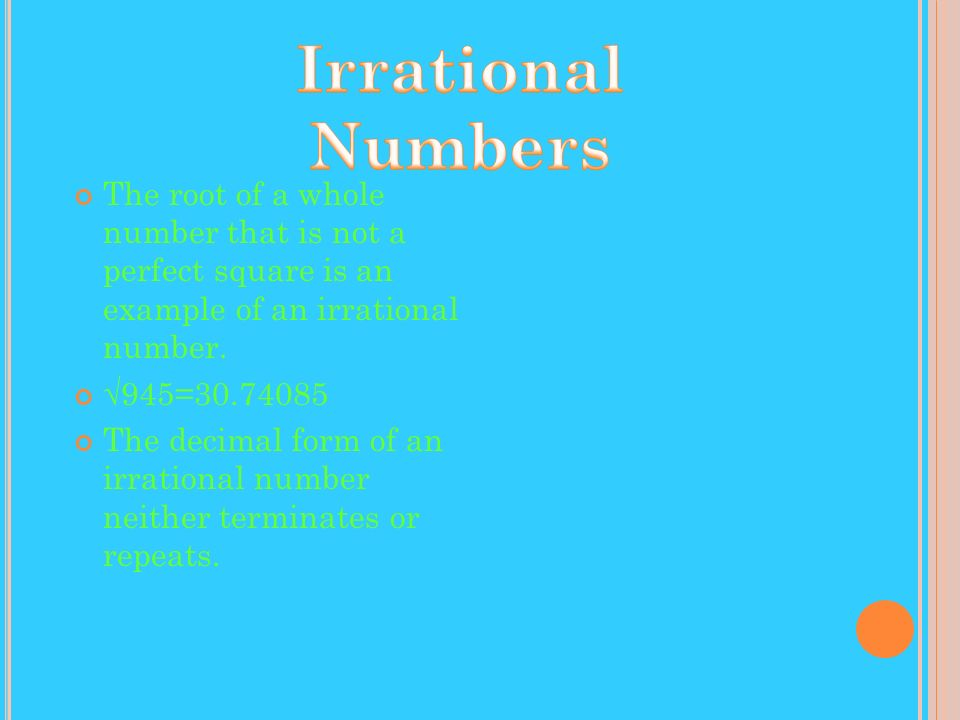In the example to the left, all are real numbers.