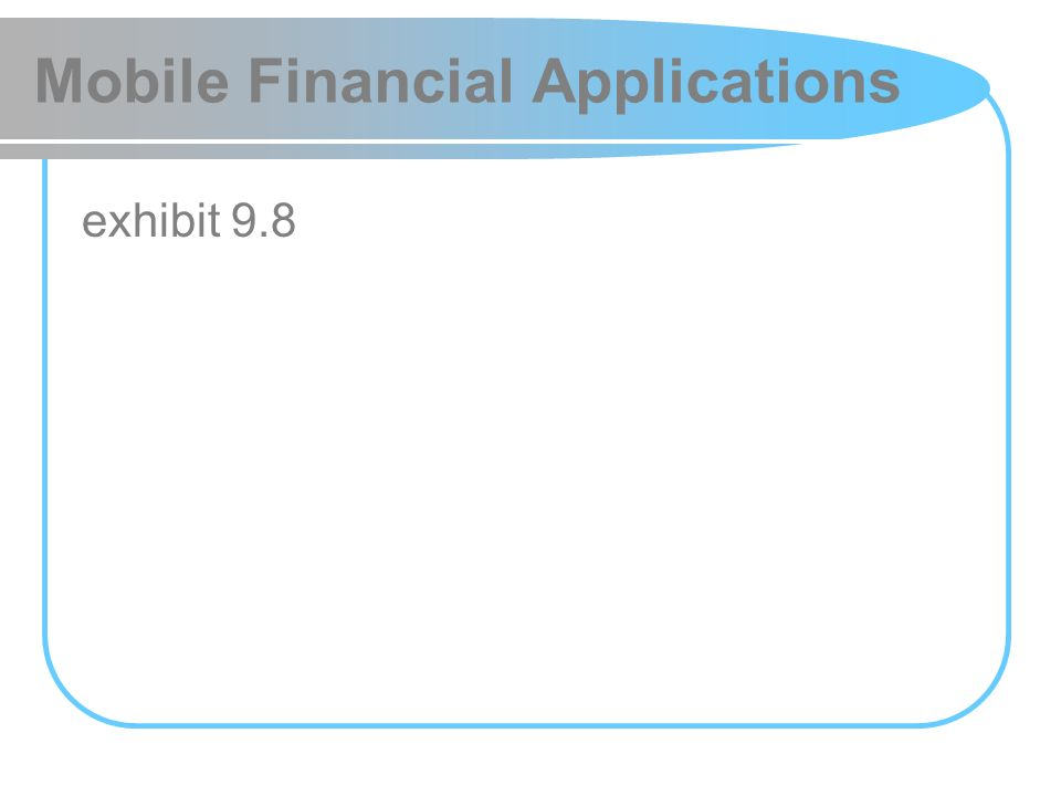 Mobile Financial Applications exhibit 9.8