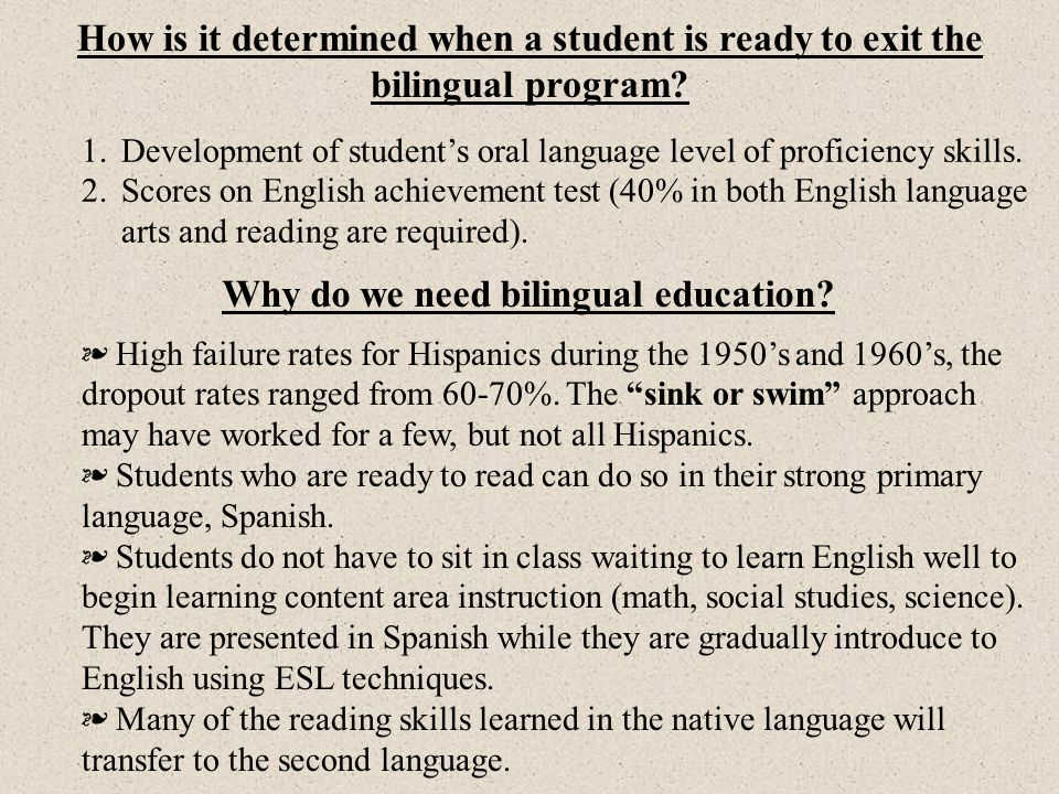 Will being in bilingual classes retard students academic progress.