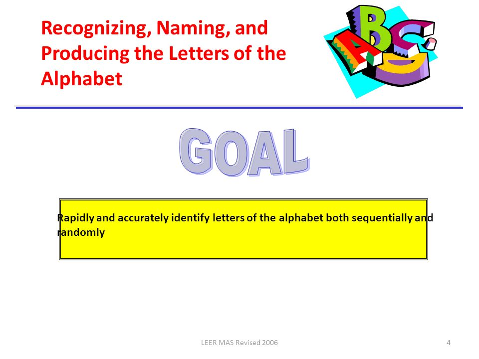LEER MAS Revised 200615 Alphabetic Principle Letter Recognition Activities Letter-Sound Matching Activities Letter-Sound Activities to Begin to Read Decoding Practice Using Syllable Knowledge Word Reading Practice Word Study Instruction (spelling patterns, syllable patterns, etc.) Appropriate Beginning Reading Texts Used Explicit Spelling Instruction PrekindergartenKindergartenFirst Grade