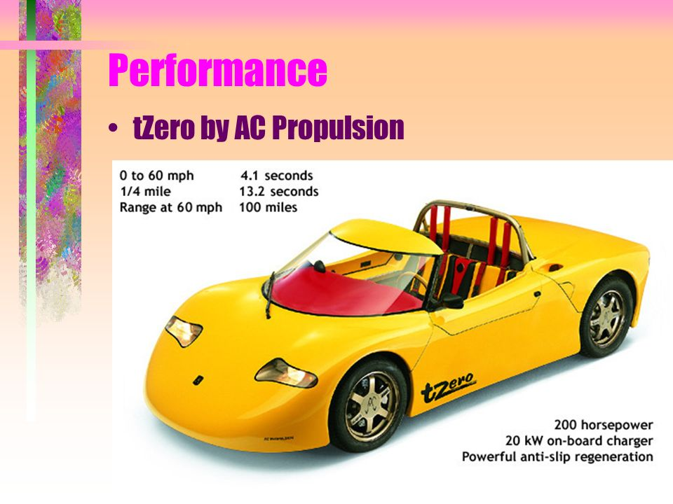 Performance tZero by AC Propulsion