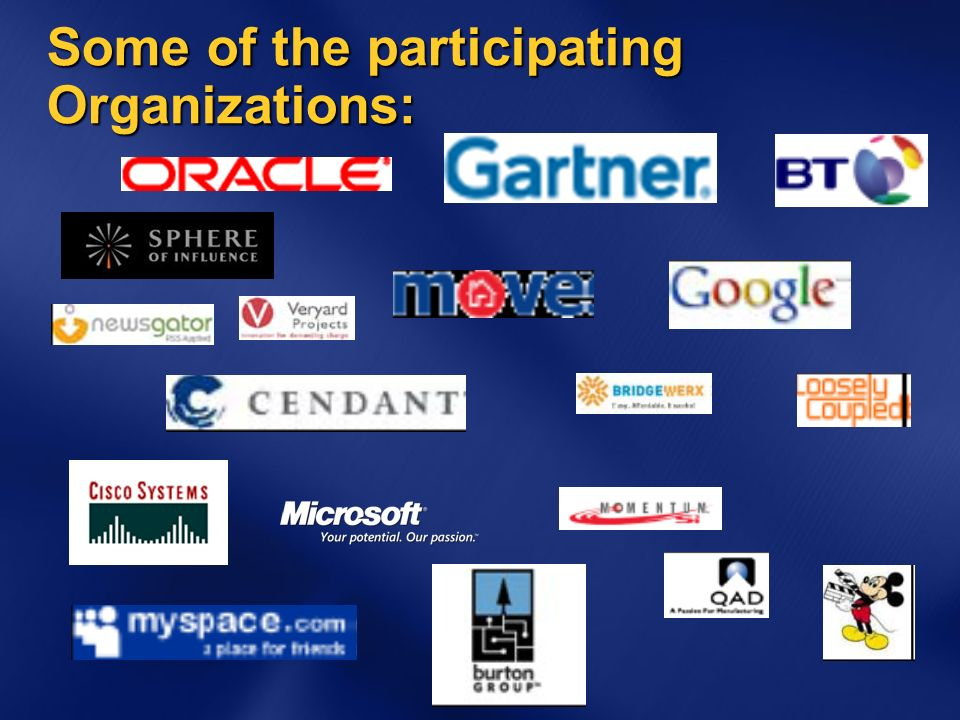 Some of the participating Organizations: