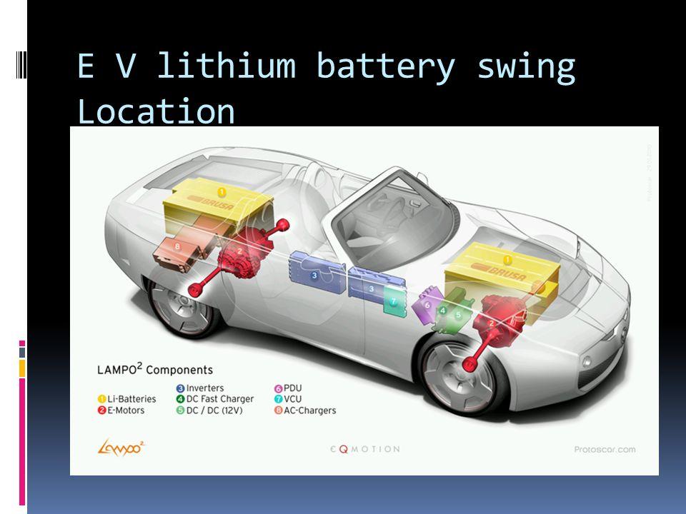 E V lithium battery swing Location