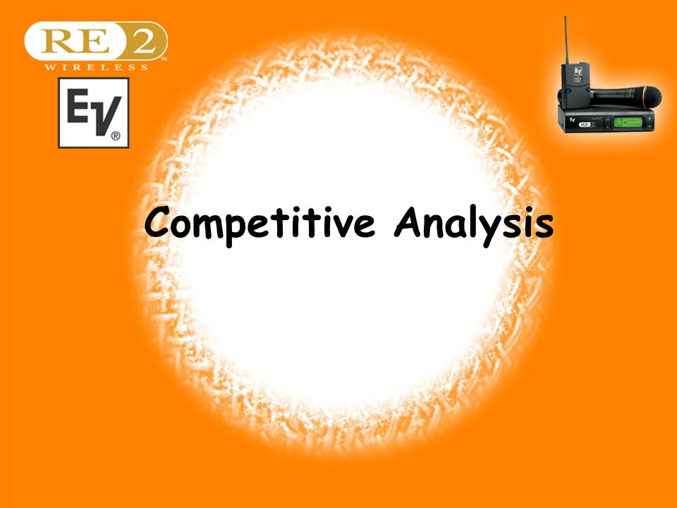 Wireless Basics 102 8/06/04 Competitive Analysis